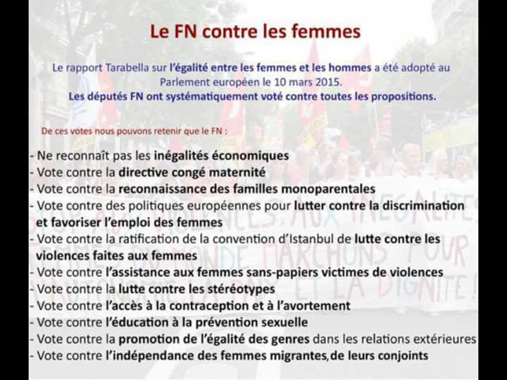 europe FN contre les femmes